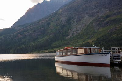 Historic Boat on Two Medicine Lake
