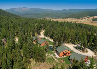 Aerial View of Star Meadows Ranch