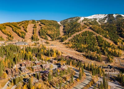 Aerial View of Whitefish Mountain Resort