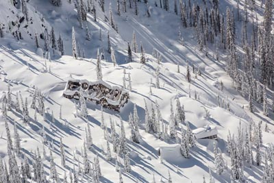 Aerial View of Sperry Chalet