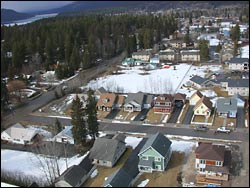 Woodside Ln Whitefish Lake, MT Winter Aerial