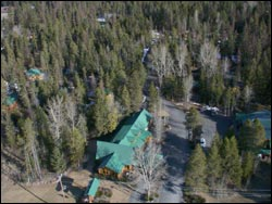 North Forty Resort Whitefish Lake, MT Winter Aerial