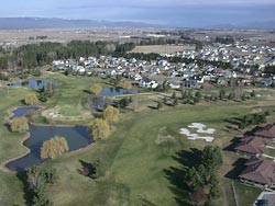 Buffalo Hills Golf Course Kalispell, MT Spring Aerial