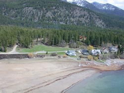 Lake Blaine low water woes Lake Blaine Spring Aerial