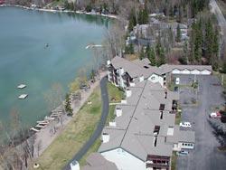 Whitefish Lake Lodge Whitefish Lake, MT Spring Aerial