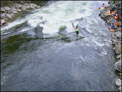 Surf Lochsa River Spring Aerial