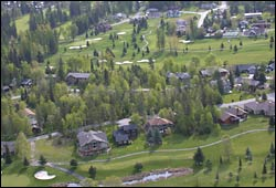 Grouse Estates Whitefish, MT Spring Aerial