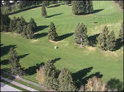 Buffalo Hills Golf Course and Kalispell Kalispell, MT Spring Aerial