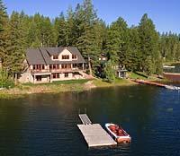 Lake Blaine Summer Aerial