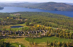 Iron Horse Golf Course Whitefish, MT Fall Aerial