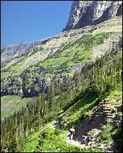 Highline Trail Glacier Park Spring Hiking