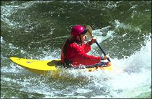Fang Wave Alberton Gorge Winter Kayaking