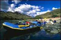 Lounging in Idaho Salmon River Spring Rafting