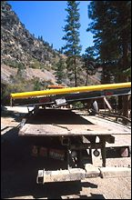 Broken Axle 4 miles to the put in. Salmon River Fall Rafting