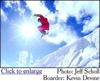 Big Mountain Winter Snowboard