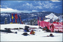 Starting Gate of the 2000 Word Cup Big Mountain Winter Landscape