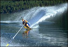 Whitefish Lake, MT Summer Water Skiing