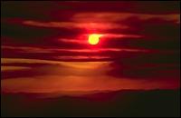 Fire in Idaho Whitefish, MT Summer Landscape