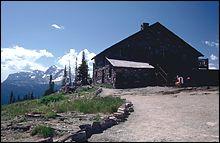 Granite Chalet Glacier Park Spring Landscape