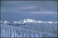 Glacier Park Winter Landscape