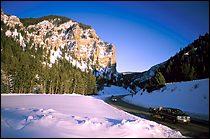 Jackon Hole Winter Landscape