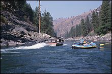 Jet Boasts Salmon River Fall Rafting