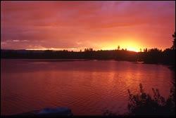 Lake Blaine Summer Landscape