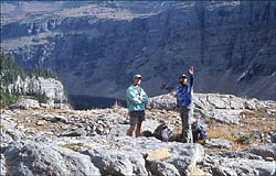 Ron & Sean Glacier Park Fall Hiking