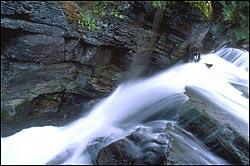 St. Mary's Falls Glacier Park Summer Landscape
