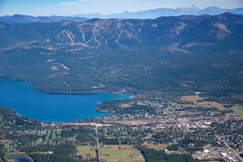 Aerial View of Whitefish, Montana